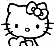 Coloriage dessin  Hello Kitty à imprimer