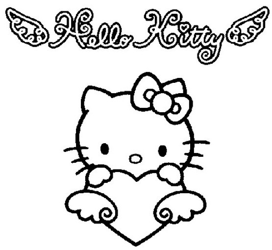 Coloriage et dessins gratuits Hello Kitty aimable à imprimer