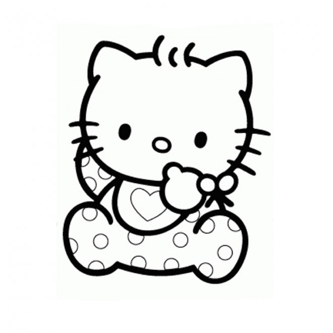 Coloriage hello kitty b b dessin gratuit imprimer - Hello kitty a imprimer ...