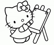 Coloriage Hello Kitty dessine maternelle
