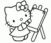 Coloriage dessin  Hello Kitty et Pucca 4