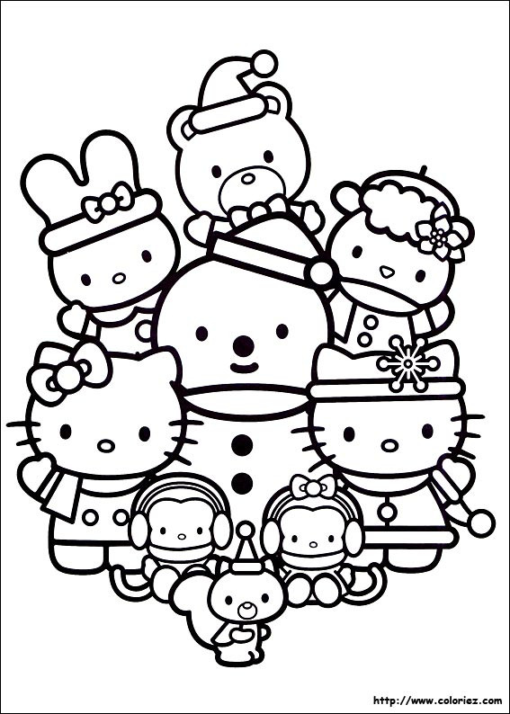 Coloriage hello kitty et pucca colorier dessin gratuit - Coloriage hello kitty a colorier ...