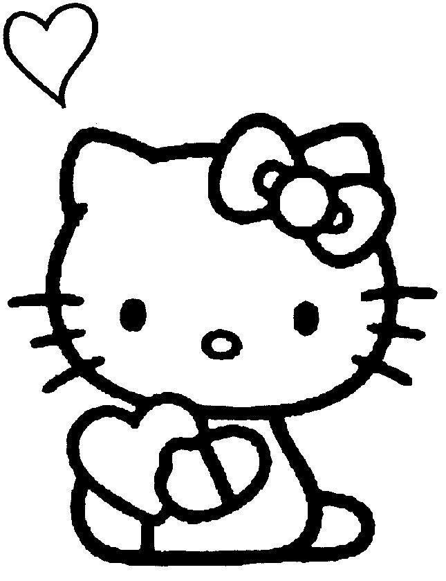 Coloriage et dessins gratuits Hello Kitty mignonne et aimable à imprimer