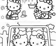 Coloriage Activités de Hello Kitty