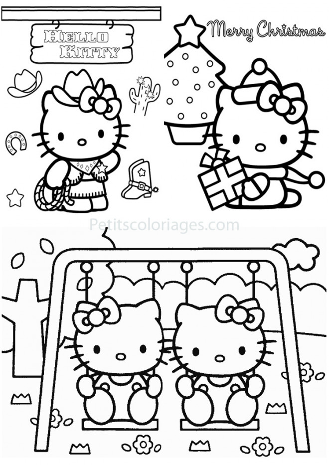 Coloriage et dessins gratuits Activités de Hello Kitty à imprimer