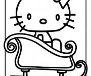 Coloriage et dessins gratuit Hello Kitty dans le Bain à imprimer