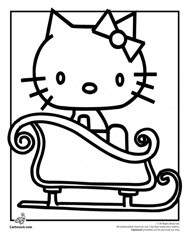 Coloriage et dessins gratuits Hello Kitty dans le Bain à imprimer