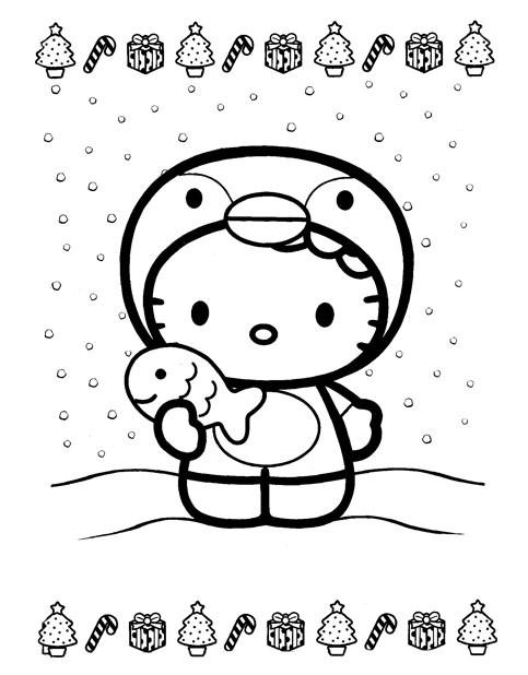 Coloriage Hello Kitty De Noel Couleur Dessin Gratuit A Imprimer