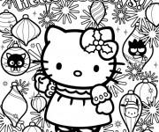 Coloriage hello kitty noel gratuit imprimer liste 20 40 - Coloriage hello kitty et la licorne ...