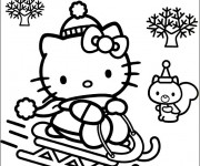 Coloriage dessin  Hello Kitty et Pucca 39