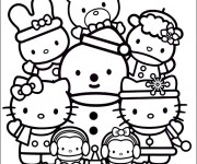 Coloriage dessin  Hello Kitty et Pucca 41