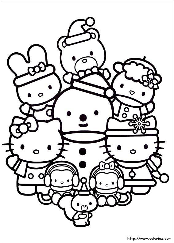 Coloriage et dessins gratuits Hello Kitty et Pucca à colorier à imprimer