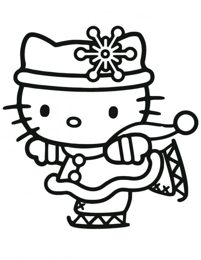 Coloriage hello kitty fait du ski dessin gratuit imprimer - Coloriage hello kitty ski ...
