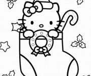 Coloriage dessin  Hello Kitty Noel 13