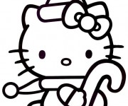 Coloriage dessin  Hello Kitty Noel 16