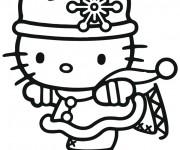 Coloriage dessin  Hello Kitty Noel 18