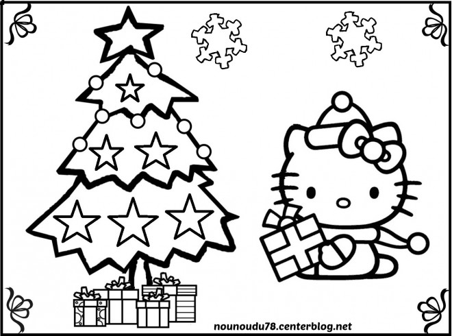 Coloriage hello kitty noel t l charger - Hello kitty noel ...