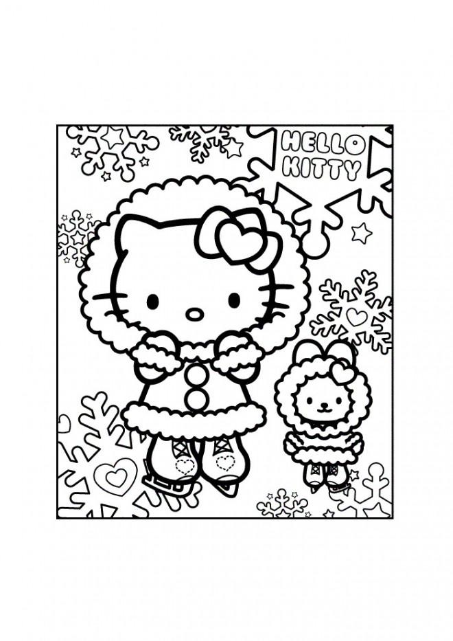 Coloriage et dessins gratuits Hello Kitty Porte des vêtements lourdes à imprimer