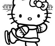 Coloriage Hello Kitty Skieuse