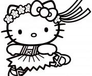 Coloriage Hello Kitty vecteur