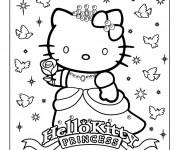 Coloriage Hello KittyPrincesse