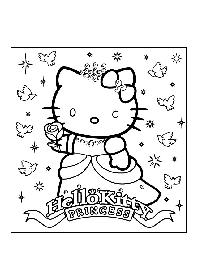 Coloriage et dessins gratuits Hello KittyPrincesse à imprimer