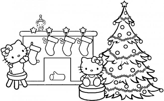 Coloriage et dessins gratuits La Décoration pour Noel à imprimer