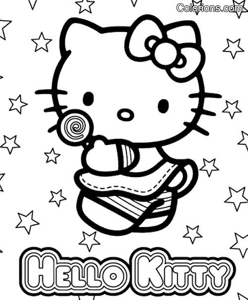 Coloriage et dessins gratuits Hello Kitty Plage vecteur à imprimer