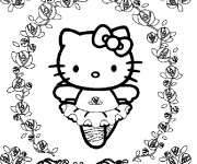 Coloriage Hello Kitty danseuse