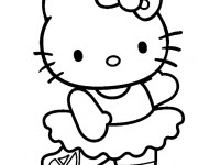 Coloriage Hello Kitty Danseuse de Ballet