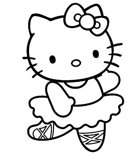 Coloriage Hello Kitty Danseuse De Ballet Dessin Gratuit à Imprimer