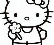 Coloriage Hello Kitty Facile