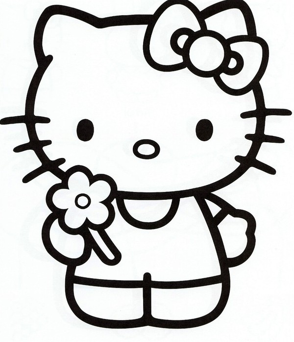 Coloriage hello kitty facile dessin gratuit imprimer - Dessin de hello kitty facile ...