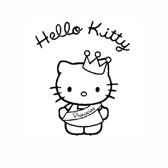 Coloriage hello kitty princesse imprimer gratuit - Coloriage hello kitty princesse ...