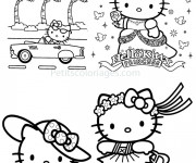 Coloriage Hello Kitty Princesse Anniversaire