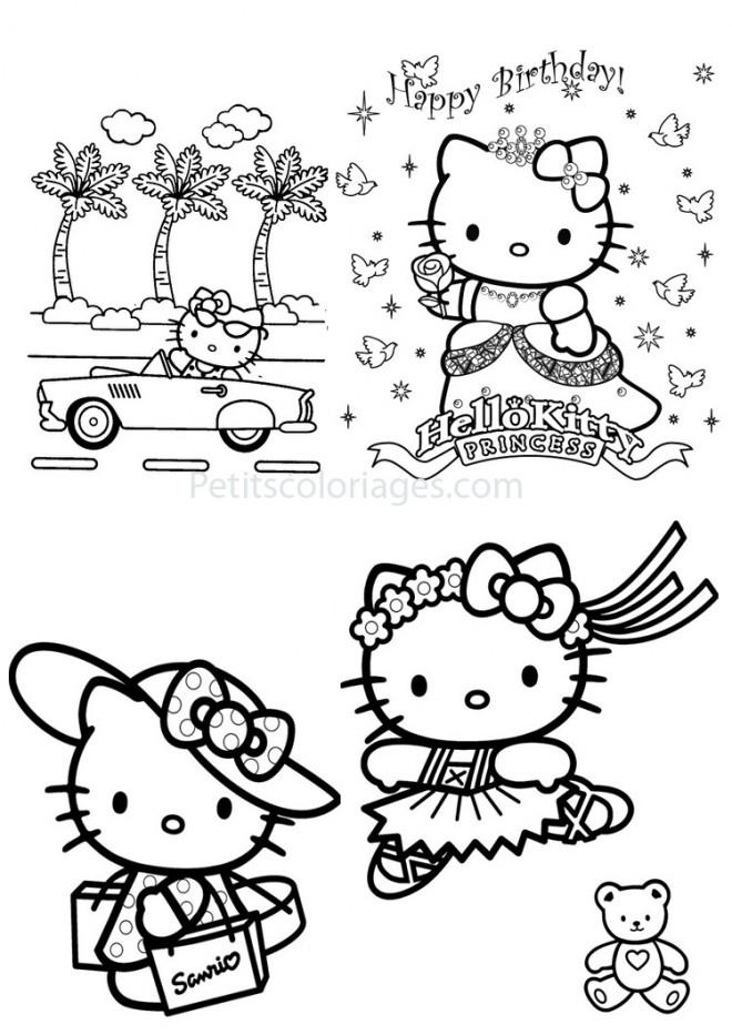 Dessin a imprimer hello kitty princesse - Coloriage hello kitty princesse ...