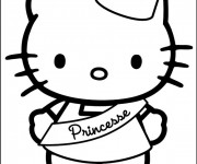 Coloriage Hello Kitty Princesse en couleur