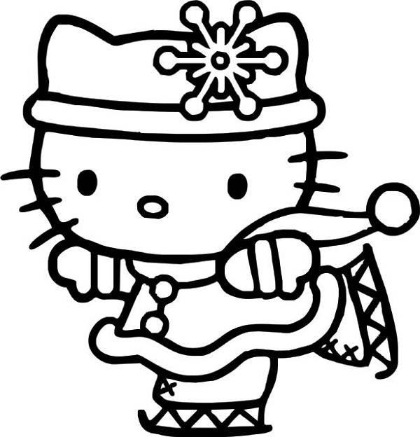 Coloriage hello kitty princesse skieuse dessin gratuit imprimer - Coloriage hello kitty princesse ...