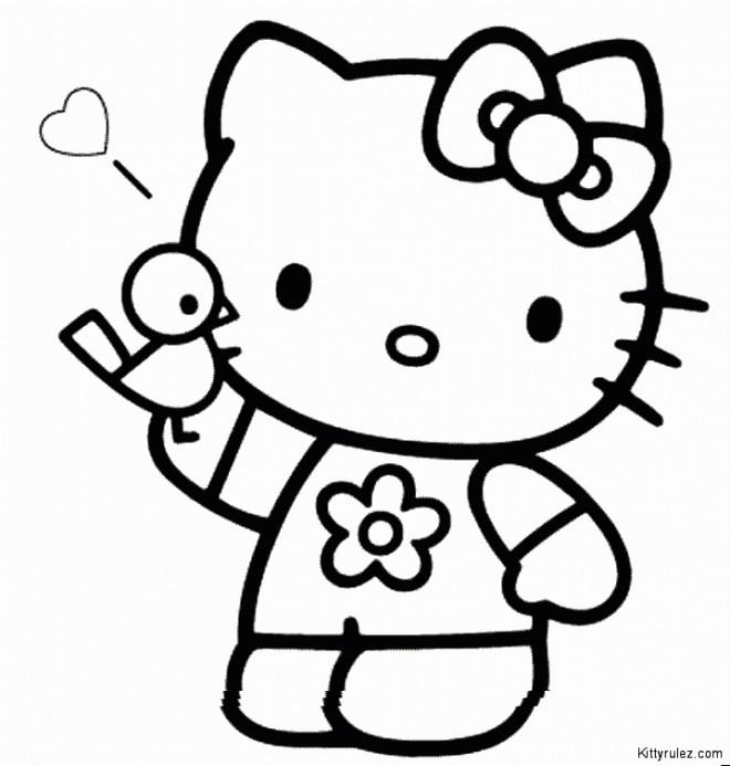 Coloriage et dessins gratuits Hello Kitty Princesse stylisé à imprimer