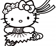Coloriage Hello Kitty vecteur