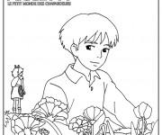 Coloriage Arrietty Le Petit Monde des Charpadeurs