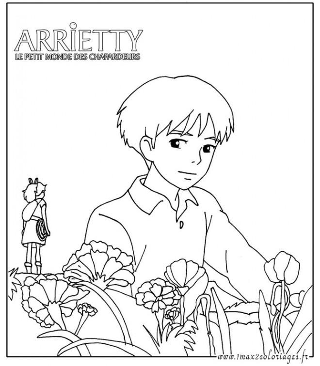 Coloriage et dessins gratuits Arrietty Le Petit Monde des Charpadeurs à imprimer