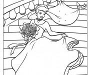 Coloriage Cendrillon dessin animé pour enfant