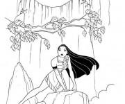Coloriage et dessins gratuit Disney Pocahontas à imprimer