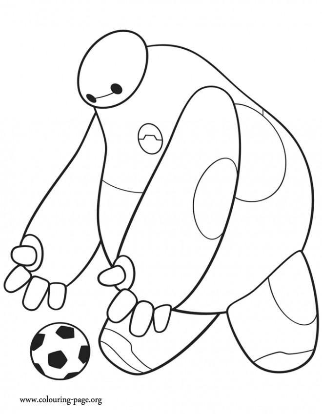 Coloriage et dessins gratuits Héro de Disney joue au ballon à imprimer
