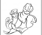 Coloriage Héro légendaire Hercule Disney
