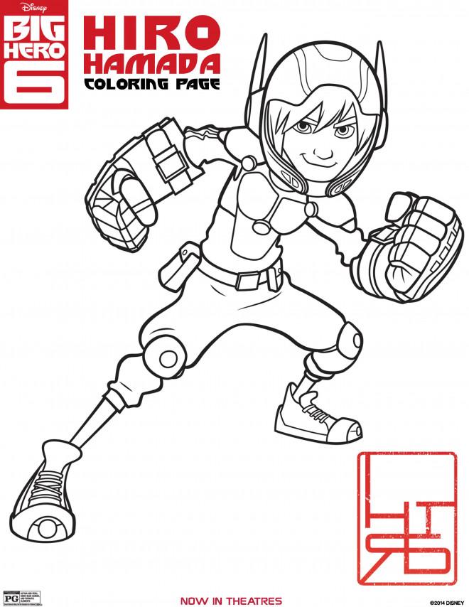 Coloriage et dessins gratuits Hiro Hamada dessin animé à imprimer