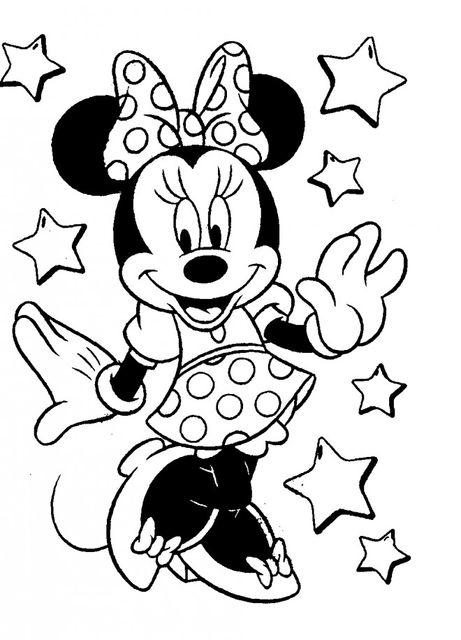 Coloriage minnie mouse de disney dessin gratuit imprimer - Dessins de minnie ...