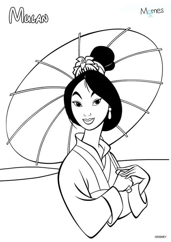 Coloriage et dessins gratuits Mulan Disney animation à imprimer
