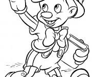 Coloriage Pinocchio fait un signe